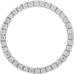 Stackable Expressions Diamond Sterling Silver Large Chain Slide