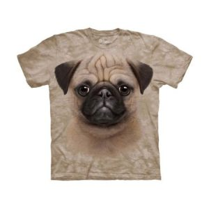 The Mountain Cotton Pug Puppy Awesome Animal Youth T-Shirt (Small)