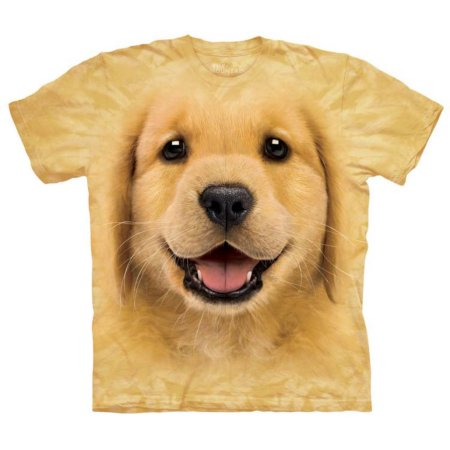 The Mountain Mens Golden Retriever Puppy T-Shirt