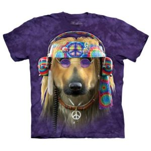 The Mountain Purple 100% Cotton Groovy Dog Graphic Novelty T-Shirt
