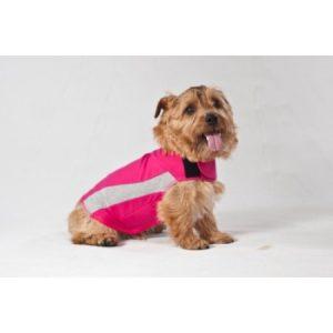 ThunderShirt PSSM-T01 Cotton/Polyester/Spandex Dog Anxiety Shirt, Medium, Pink Polo