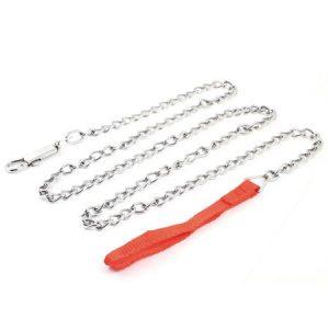 """Unique Bargains 143cm 56.3"""" Long Dog Pet Training Portable Adjustable Choke Chain Leash Kit"""