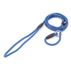 """Unique Bargains Pet Doggie Blue Twisted Rope Pulling Neck Leash Strap 55"""" Long"""