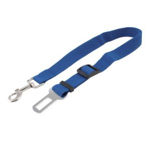 Unique Bargains Silver Tone Trigger Hook Blue Pet Cat Dog Car Seat Safety Belt Leash Rope
