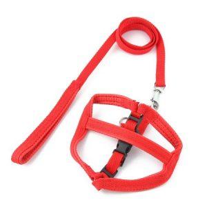 Unique Bargains Trigger Hook Release Buckle Adjustable Pet Dog Harness Halter Leash Red