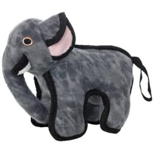 VIP Products Tuffy Jr. Zoo Elephant Dog Toy, Multicolor