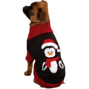"Zack Zoey Holiday Penguin Sweaters Black XXS 8"""
