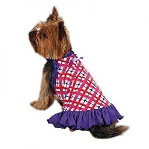 east side collection zm3458 12 75 hugs and kisses dress for dogs, small, pink