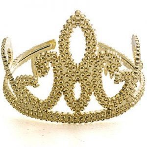 gold plastic tiara - shiny plastic tiara in golden