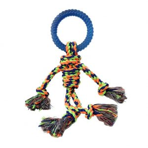 Candy Man Puppy Dog Bite Resistant Cotton Rope Knot Weaving Toy Pet Toys