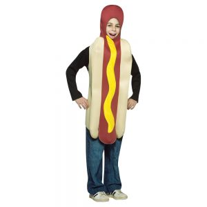 Child's Hot Dog Costume - One Size Fits Most, Kids Unisex, Multi-Colored