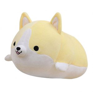 Cute Corgi Dog Plush Toys Soft Cotton Stuffed Puppy Pillow Lovely Animal Dolls Kids Playmate Girls Birthday Valentine Present