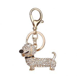 Fashion Dog Dachshund Keychain HandBag Charm Pendant Keys Holder Keyrings Jewelry For Women Girl Gift Keychain for Car Jewelry