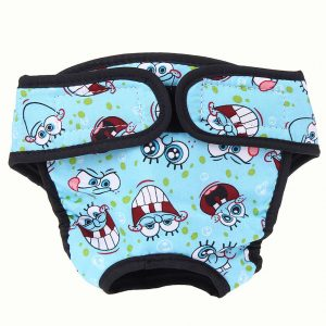 Large Dog Diaper Pants Sanitary Physiological Pant Washable Female Dog Underwear Dog Wraps Doggy Panty S-XL Pet Supplies