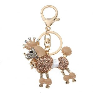 Novelty Dog Key-chain Keyring Souvenir Fashion Animal Metal Key Chain Ring Gift Jewelry Purse Charms Bag Pendant