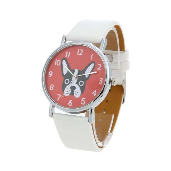 Unisex Lovely Cute Dogs Pattern PU Leather Bracelet Casual Quartz Watch