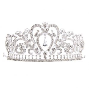 Silver Plated Diamond Jewelry Bride Crown Hot Cakes Bride's Headdress