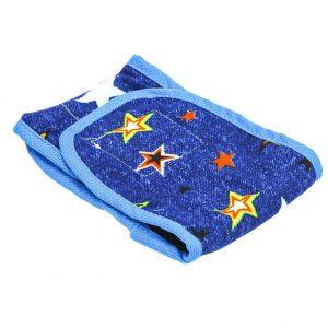 Dog Print Sanitary Pants Pet Cotton Physiological Diaper Shorts(Blue S)