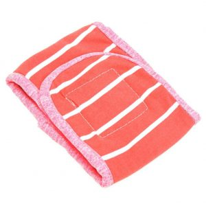 Dog Print Sanitary Pants Pet Cotton Physiological Diaper Shorts(Pink S)