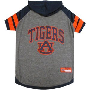 Pets First College Auburn Tigers Pet Hoody Tee Shirt, 4 Sizes Available