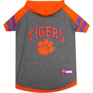 Pets First College Clemson Tigers Pet Hoody Tee Shirt, 4 Sizes Available