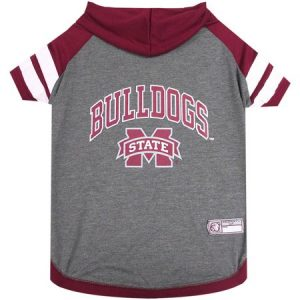 Pets First College Mississippi State Bulldogs Pet Hoody Tee Shirt, 4 Sizes Available