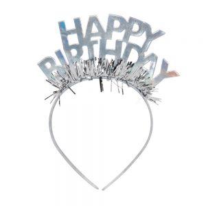 Goh Headband Party Tiara Light Silver - Spritz