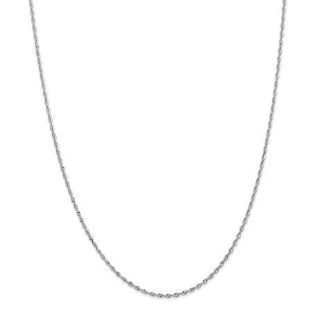 10k White Gold 1.84mm D/C Quadruple Rope Chain