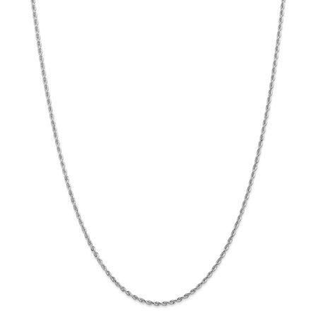 10k White Gold 2.00mm D/C Quadruple Rope Chain
