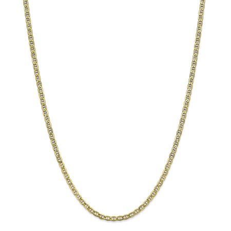 10k Yellow Gold 3.20mm Semi Solid Anchor Chain