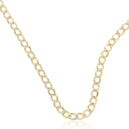 """10k Yellow Gold 3.5mm Pave Cuban Chain- 16"""" 18"""" 20"""" 22"""" and 24"""" Available"""