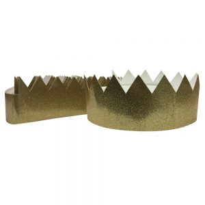 12ct Gold Tiara Crown - Spritz, Kids Unisex