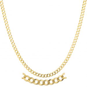 "14k Yellow Gold 3mm Solid Cuban Chain - 16"" 22"" and 24"" Available"