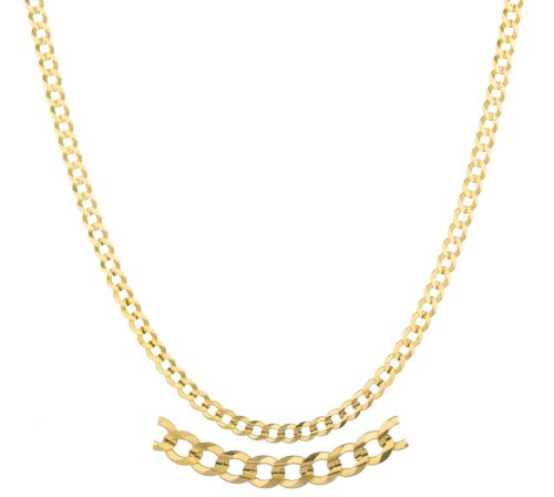"""14k Yellow Gold 3mm Solid Cuban Chain - 16"""" 22"""" and 24"""" Available"""