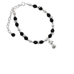 2-D Dog Black Beaded Bracelet