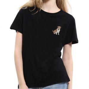American Staffordshire Dog Print Cute Unisex O-Neck Short Sleeve Top Tee T-Shirt