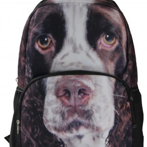 Animal Face 3D Springer Spaniel Dog Backpack
