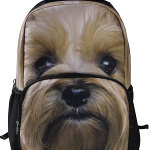 Animal Face 3D Yorkshire Terrier Dog Backpack