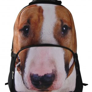 AnimalFace 3D Animals Thoroughbred Dog Backpack