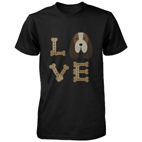 Basset Hound Love Men's T-shirts Cute Tees for Dog Owner Puppy Printed Shirts