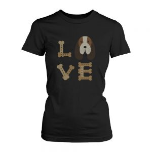 Basset Hound Love Women's T-shirts Cute Tees for Dog Owners Puppy Printed Shirts
