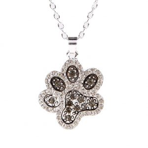 Chokers Necklace Tassut Cat and Dog Paw Print Animal Jewelry Women Pet Memorial Pendant Cute Delicate Statement Necklace