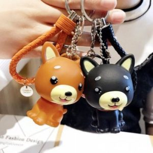Creative Cartoon Shiba Inu Law Dog Keychain Men And Women Bags Pendant Car Ornaments Student Gifts