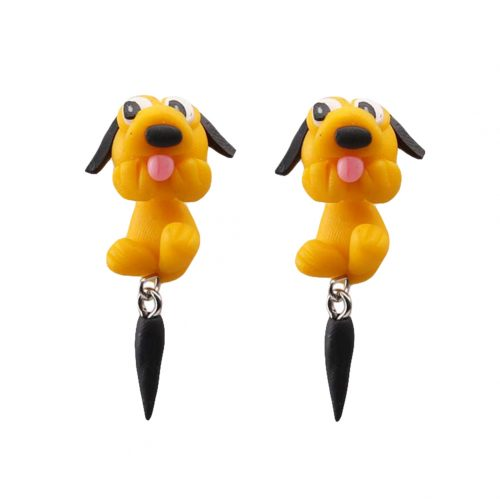 Creative Charm Cute Pottery Dog Earrings Lady Fashion Animal Piercing Jewelry