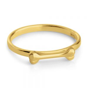 Dog Bone Puppy Treat Pet Animal Stackable Ring #14K Gold Plated over 925 Sterling Silver #Azaggi R0538G - 5