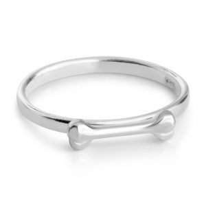 Dog Bone Ring # 925 Sterling Silver #Azaggi R0538S - 5