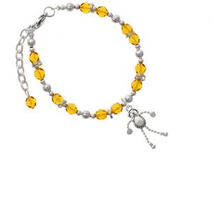 Dog with 4 Dangle legs Yellow Beaded Bracelet