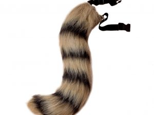 Halloween Faux Fur Fox Tail Cosplay Furry Wolf Dog Adjustable Carnival Costume