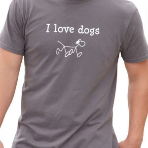 I Love Dogs Men's T-Shirt - Black, S