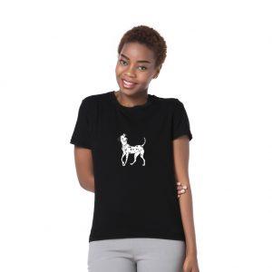 Men Women Summer Dalmatians Dog Print Round Neck Short Sleeve Top Tee T-Shirt